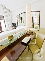 クラビ オーシャンビューのホテル : プーレイ ベイ ア リッツ カールトン リザーブ(Phulay Bay a Ritz-Carlton Reserve)のリゾート パビリオンルームの設備 Writing Desk