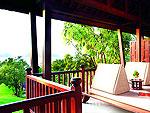 クラビ オーシャンビューのホテル : プーレイ ベイ ア リッツ カールトン リザーブ(Phulay Bay a Ritz-Carlton Reserve)のオーシャン パビリオンルームの設備 Balcony