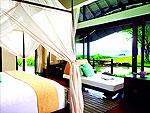 クラビ オーシャンビューのホテル : プーレイ ベイ ア リッツ カールトン リザーブ(Phulay Bay a Ritz-Carlton Reserve)のビーチ ヴィラルームの設備 Bedroom