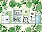 クラビ オーシャンビューのホテル : プーレイ ベイ ア リッツ カールトン リザーブ(Phulay Bay a Ritz-Carlton Reserve)のリザーブ プール ヴィラルームの設備 Layout
