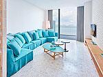 プーケット 会議室ありのホテル : コモ ポイント ヤム プーケット(COMO Point Yamu Phuket)のベランダ スイートルームの設備 Living Room
