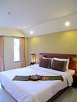 プーケット ロングステイのホテル : ポッパ パレス(Poppa Palace)のデラックス(シングル)ルームの設備 Bedroom