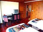 サムイ島 チョンモーンビーチのホテル : バイヨーク シーコースト サムイ(Baiyoke Seacoast Resort)のデラックス パビリオンルームの設備 Bedroom
