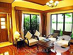 サムイ島 チョンモーンビーチのホテル : バイヨーク シーコースト サムイ(Baiyoke Seacoast Resort)の1ベッドルーム プライベート プール ヴィラルームの設備 Living Room