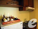サムイ島 チョンモーンビーチのホテル : バイヨーク シーコースト サムイ(Baiyoke Seacoast Resort)の1ベッドルーム プライベート プール ヴィラルームの設備 Kitchen