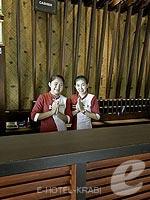 クラビ インターネット接続(無料)のホテル : ライレイ ビレッジ リゾート 「Reception」