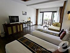 クラビ ライレイのホテル : ライレイ ビレッジ リゾート(1)のお部屋「デラックス プールビュー」