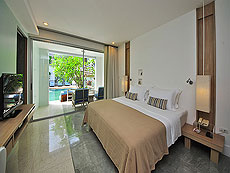 プーケット カロンビーチのホテル : ラマダ プーケット サウスシー(1)のお部屋「デラックス クラブ イージー プール アクセス(シングル)」
