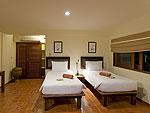 サムイ島 チョンモーンビーチのホテル : ランブータン ヴィラ(Rambutan Villa)の3ベッドルームルームの設備 Bedroom