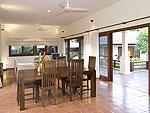 サムイ島 チョンモーンビーチのホテル : ランブータン ヴィラ(Rambutan Villa)の3ベッドルームルームの設備 Dining Area