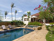 サムイ島 チョンモーンビーチのホテル : ランブータン ヴィラ(1)のお部屋「3ベッドルーム」