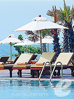 Poolside : Ravindra Beach Resort & Spa, Jomtien Beach, Phuket