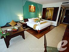 パタヤ ジョムティエンビーチのホテル : ラビンドラ ビーチ リゾート & スパ(1)のお部屋「デラックス ルーム」
