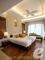 パタヤ ジョムティエンビーチのホテル : ラビンドラ ビーチ リゾート & スパ(Ravindra Beach Resort & Spa)のプール ヴィラ 1ベッド ルームルームの設備 Bedroom