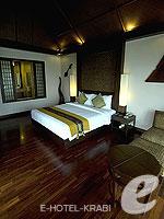 クラビ ランタ島のホテル : ラウィ ワリン リゾート & スパ(Rawi Warin Resort & Spa)のサンセット プール ビラルームの設備 Bedroom