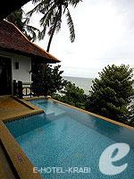 クラビ ランタ島のホテル : ラウィ ワリン リゾート & スパ(Rawi Warin Resort & Spa)のサンセット プール ビラルームの設備 Private Pool