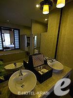 クラビ ランタ島のホテル : ラウィ ワリン リゾート & スパ(Rawi Warin Resort & Spa)のサンセット プール ビラルームの設備 Bath Room