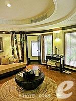 クラビ キャンペーンのホテル : ラヤヴァディ(Rayavadee)のデラックス パビリオンルームの設備 Living Room