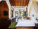 サムイ島 チョンモーンビーチのホテル : ロイヤル ムアン サムイ ヴィラ(Royal Muang Samui Villas)のグランド デラックス スイート ガーデンビュールームの設備 Bedroom