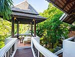 サムイ島 チョンモーンビーチのホテル : ロイヤル ムアン サムイ ヴィラ(Royal Muang Samui Villas)のグランド デラックス スイート ガーデンビュールームの設備 Balcony
