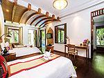サムイ島 チョンモーンビーチのホテル : ロイヤル ムアン サムイ ヴィラ(Royal Muang Samui Villas)のプール ヴィラルームの設備 Bedroom