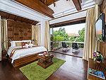 サムイ島 チョンモーンビーチのホテル : ロイヤル ムアン サムイ ヴィラ(Royal Muang Samui Villas)のプール ヴィラ オーシャンビュールームの設備 Bed Room