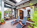 サムイ島 チョンモーンビーチのホテル : ロイヤル ムアン サムイ ヴィラ(Royal Muang Samui Villas)のプール ヴィラ オーシャンビュールームの設備 Terrace