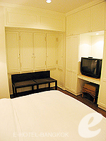 バンコク ファミリー&グループのホテル : サラデーン コロネード(Saladaeng Colonnade)のデラックス(1ベッドルーム)ルームの設備 Bedroom