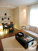 Living Area : Deluxe (1 Bed Room) at Saladaeng Colonnade, Silom Sathorn, Bangkok