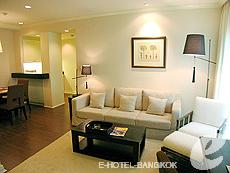 バンコク ファミリー&グループのホテル : サラデーン コロネード(Saladaeng Colonnade)のお部屋「デラックス 2ベッドルーム」