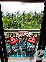 サムイ島 2ベッドルームのホテル : サンティブリ サムイ ザ リーディング ホテルズ オブ ザ ワールド(Santiburi Samui - The Leading Hotels of the World)の1ベッドルーム ディプレックス スイートルームの設備 Balcony