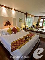 サムイ島 2ベッドルームのホテル : サンティブリ サムイ ザ リーディング ホテルズ オブ ザ ワールド(Santiburi Samui - The Leading Hotels of the World)のデラックス ビーチフロント ヴィラルームの設備 Bedroom