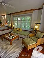 サムイ島 2ベッドルームのホテル : サンティブリ サムイ ザ リーディング ホテルズ オブ ザ ワールド(Santiburi Samui - The Leading Hotels of the World)のデラックス ビーチフロント ヴィラルームの設備 Living Room