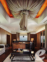 サムイ島 2ベッドルームのホテル : サンティブリ サムイ ザ リーディング ホテルズ オブ ザ ワールド(Santiburi Samui - The Leading Hotels of the World)のデラックス プールヴィラルームの設備 Living Room