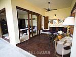 サムイ島 メナムビーチのホテル : サリー サムイ(Saree Samui)のトロピカルビラルームの設備 Room View