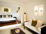 サムイ島 プライベートビーチありのホテル : サリカンタン リゾート & スパ(Sarikantang Resort & Spa)のオーシャンビュー ヴィラルームの設備 Bedroom