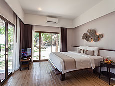 サムイ島 プライベートビーチありのホテル : サリカンタン リゾート & スパ(1)のお部屋「デラックス」