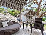 サムイ島 プライベートビーチありのホテル : サリカンタン リゾート & スパ(Sarikantang Resort & Spa)のデラックス ウィズ バスルームの設備 Terrace