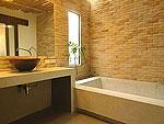サムイ島 プライベートビーチありのホテル : サリカンタン リゾート & スパ(Sarikantang Resort & Spa)のデラックス ラナイルームの設備 Bath Room