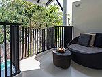 サムイ島 プライベートビーチありのホテル : サリカンタン リゾート & スパ(Sarikantang Resort & Spa)のデラックス プール アクセスルームの設備 Balcony