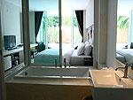 サムイ島 プライベートビーチありのホテル : サリカンタン リゾート & スパ(Sarikantang Resort & Spa)のデラックス プール アクセスルームの設備 Bath Room