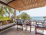 サムイ島 プライベートビーチありのホテル : サリカンタン リゾート & スパ(Sarikantang Resort & Spa)のビーチフロント スイートルームの設備 Balcony