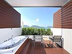 プーケット パトンビーチのホテル : シー サン サンド リゾート & スパ(Sea Sun Sand Resort & Spa)のデラックス ジャグジー(ツイン/ダブル)ルームの設備 Terrace