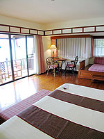 プーケット 5,000~10,000円のホテル : シービュー パトン ホテル(Seaview Patong Hotel)のジュニア スイートルームの設備 Bedroom