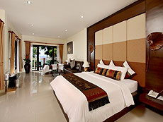 プーケット 5,000~10,000円のホテル : シークレット クリフ リゾート(1)のお部屋「ファミリー デラックス オーシャンビュー」