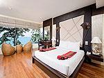 プーケット カロンビーチのホテル : シークレット クリフ リゾート(Secret Cliff Resort & Restaurant)のジュニア スイート オーシャンビュールームの設備 Bed Room