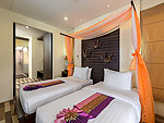 プーケット カロンビーチのホテル : シークレット クリフ リゾート(Secret Cliff Resort & Restaurant)のスーペリア ガーデン ビュールームの設備 Bed Room