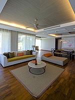 サムイ島 2ベッドルームのホテル : シャサ リゾート & レジデンス コ サムイ(ShaSa Resort & Residences Koh Samui)のシービュースイート(3ベッドルーム)ルームの設備 Living Area