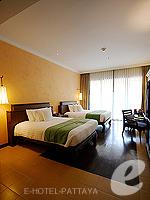 パタヤ サウスパタヤのホテル : インターコンチネンタル パタヤ リゾート(Inter Continental Pattaya Resort)のガーデンビュー ルームルームの設備 Bedroom
