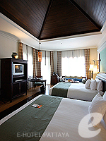 パタヤ サウスパタヤのホテル : インターコンチネンタル パタヤ リゾート(Inter Continental Pattaya Resort)のデラックス パビリオン オーシャンルームの設備 Bedroom